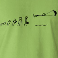 evolution of men kiteboarding T-shirt