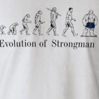 evolution of modern man, Evolution of  Strongman T-shirt