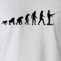 Human Evolution: Fisherman T-Shirt T-shirt