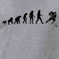 Human Evolution: Hockey Player T-Shirt T-shirt