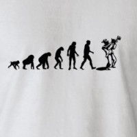 Human Evolution: Jazz Musician T-shirt