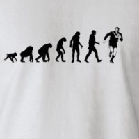 Human Evolution: Rugby T-Shirt T-shirt