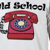 Old School/ New School Phone T-shirt