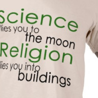 Religion and Science Atheist T-shirt