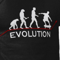 Skateboarding Evolution t-shirt T-shirt