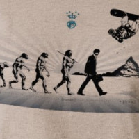 snowboard evolution T-shirt